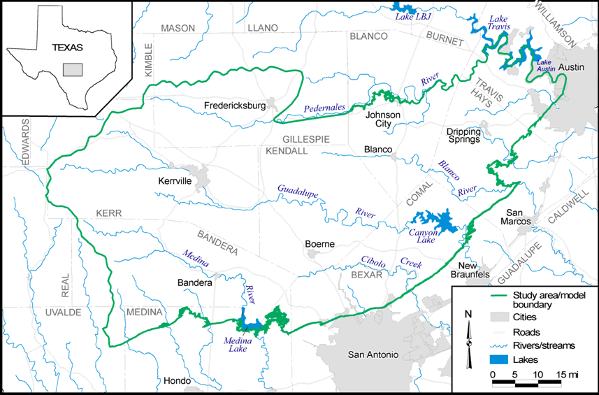 Trinity GAM boundaries. Source TWDB Rpt 353 (Mace et al. 2000)
