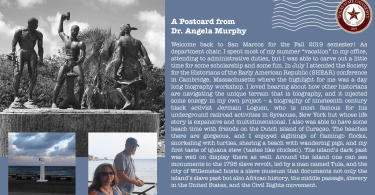Postcard from Dr. Angela Murphy