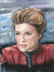 Janeway-voyager-portrait-watercolor-star-trek-art
