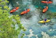 Kayaks at Spring Lake