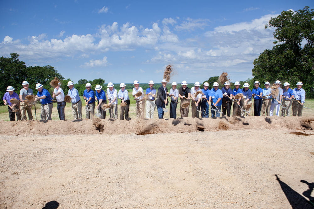 Groundbreaking Ceremony for North Texas Municipal Lake