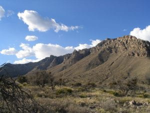 Guadalupe Mountains National Park by Ken Lund. The mountains rise more than 3,000 feet above the arid floor of the Chihuahuan Desert.