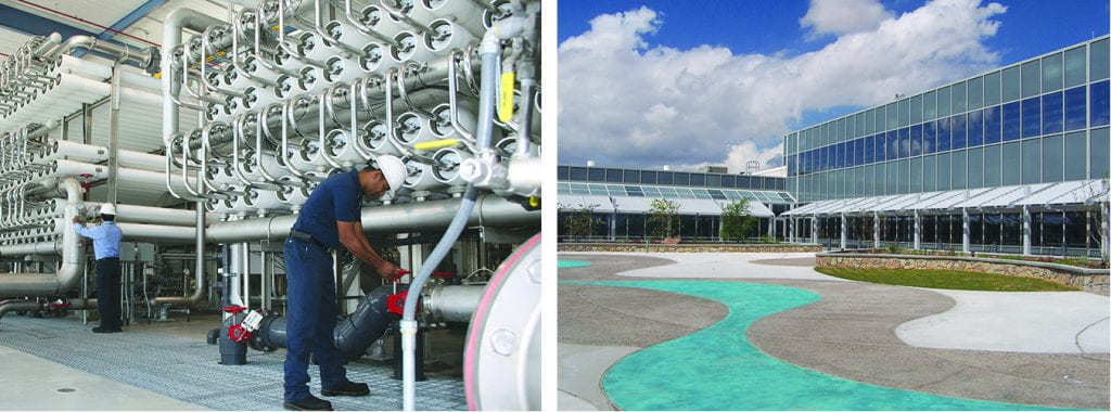 El Paso is home to the world's largest inland desalination plant.