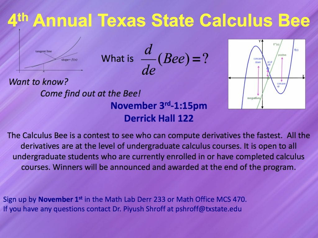 Calculus Bee Flyer 2017