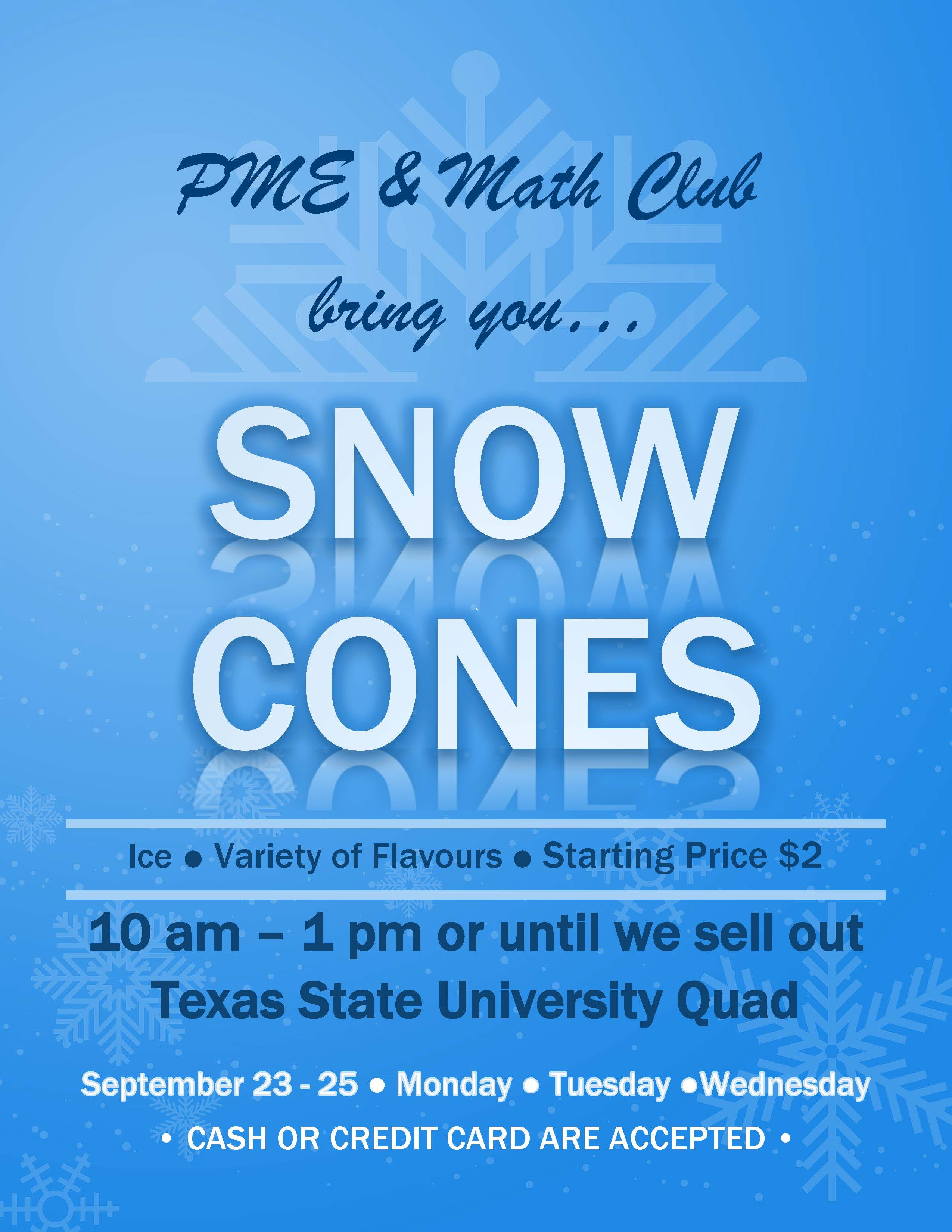 Snow Cone Flyer