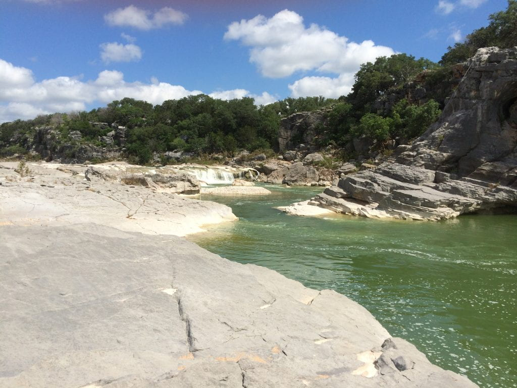 Pedernales River in central Texas