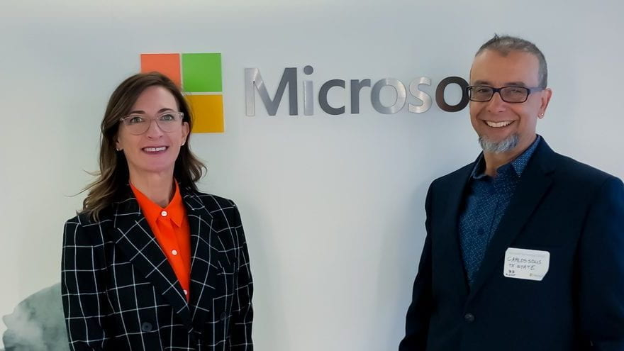 Dr. Carlos Solís presents AI-captioning study at Microsoft higher education event