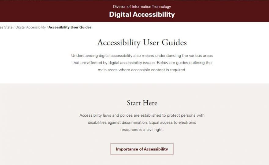Digital Accessibility – Have you thought about it?