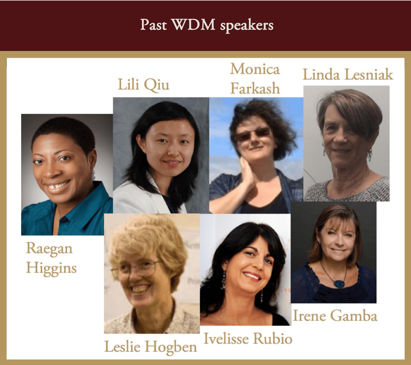 Past Speakers WDM