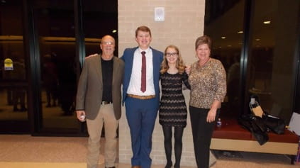 Chris Henrick (Dad), John, Katy Head (friend), Laura Henrick (Mom).