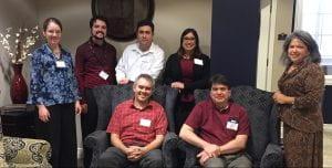 Standing: Dr. Rebecca Eaton, Dr. Jose Garza (BM 2012, MM 2014), Juan Gutierrez (MM 2011), Amy Dixon Hatch (BM 2011, MM 2013), Dr. Cynthia I. Gonzales Seated: Dr. Nico Schuler, Dr. Ken Stephenson