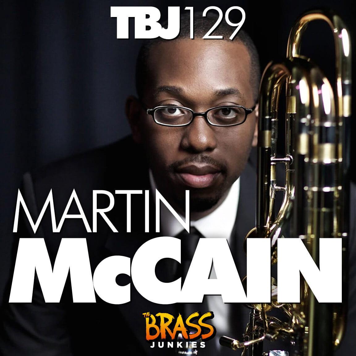 Dr. Martin McCain portrait for Brass Junkies pocast logo