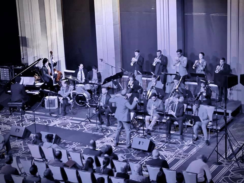 TXST Jazz Ensemble performing at Notre Dame