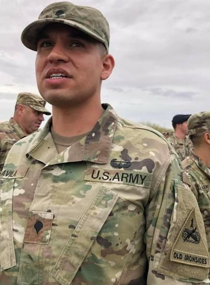 Andres Avila in an army uniform
