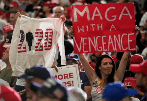 supporters at a Trump rally