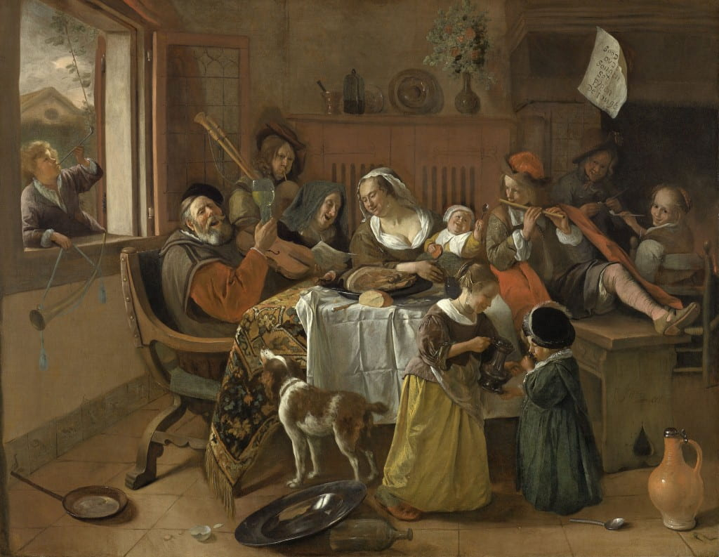 The Merry Family, Jan Havicksz. Steen, 1668