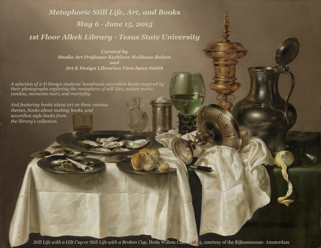 metaphoric still life exhibit FLYER