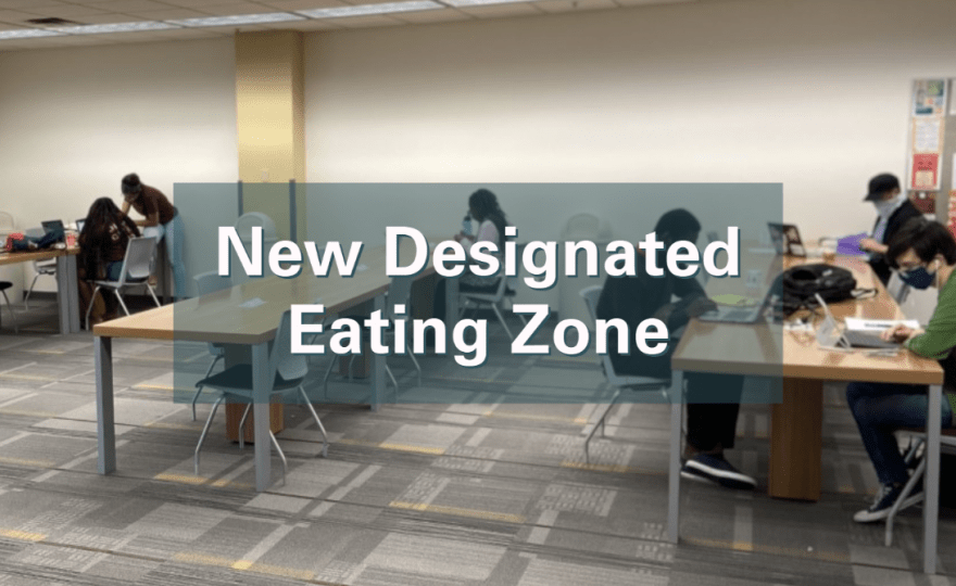 New expanded fourth floor lounge is the place to take food and drink breaks