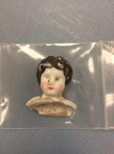 Porcelain Doll's Head circa 1905-1915 Photo by Author. Used with permission of the Texas Historical Commission