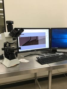 Figure 7: The Olympus DP27 microscope used with the cellSens program