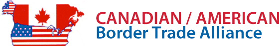 The Canadian/American Border Trade Alliance (Can/Am BTA) logo with the US and Canada depicted in their respective flags