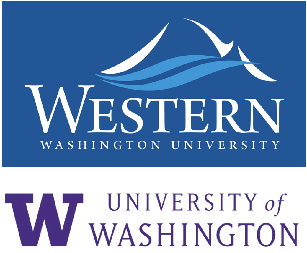 The Pacific Northwest National Resource Center on Canada (NRC) logo, WWU's logo atop the University of Washington's logo