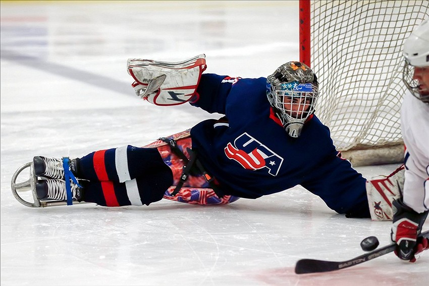 B2 Cultural Organization Usa Hockey Shoots And Scores In The