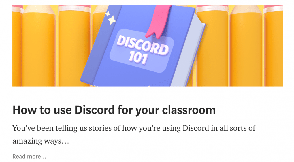 """Card preview for """"How to use Discord for your classroom"""""""
