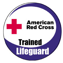American Red Cross Trained Lifeguard logo