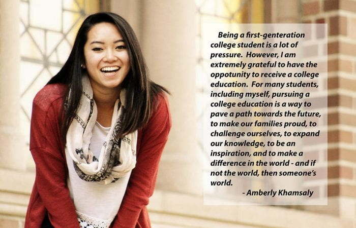 Amberly Khamsaly with quote