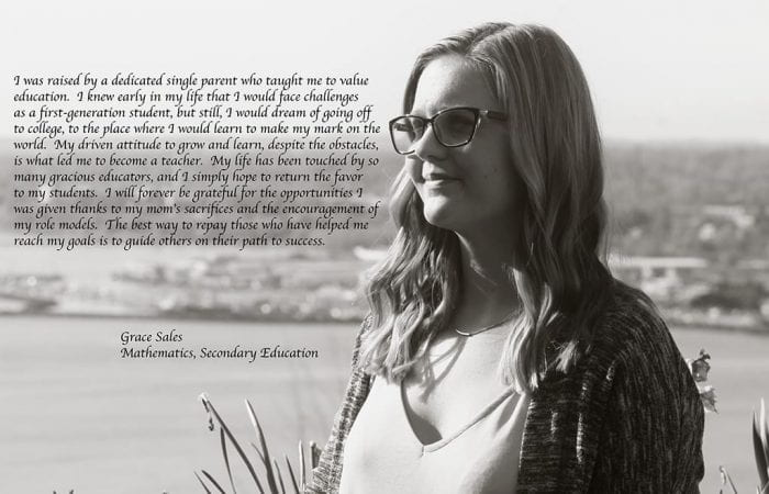 Grace Sales with quote black and white image