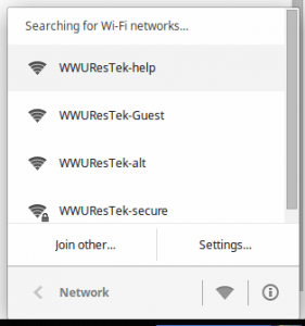 Chromebook wireless networks list