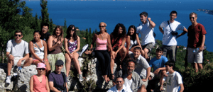Class group photo from Kioni village in Ithaca, Greece