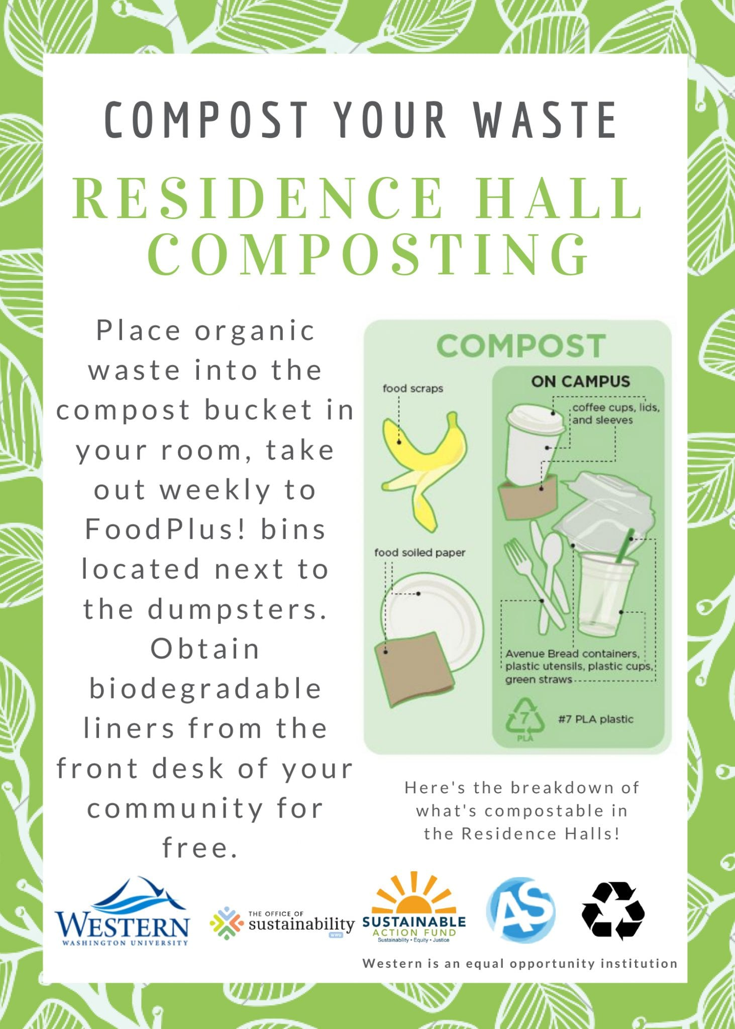 Compost in Residence Halls Info Flier