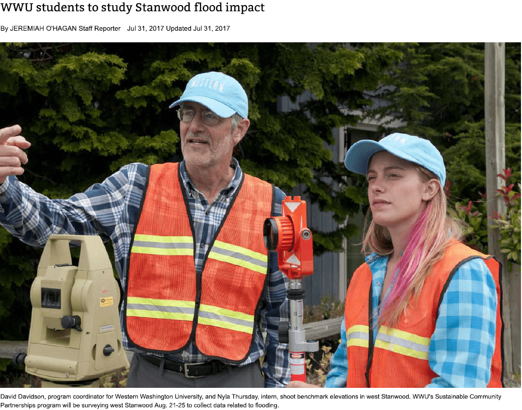 Preview of 'WWU Students to study Stanwood flood impact' article