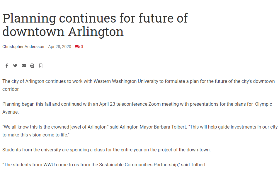 Article Preview: Planning continues for future of downtown Arlington