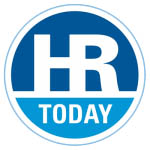 A blue circle with the word HR Today inside.