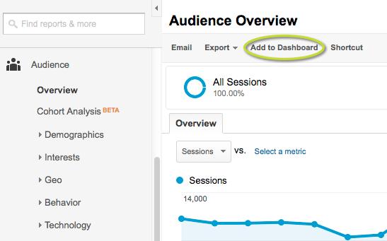 Google Analytics Customize Step 1