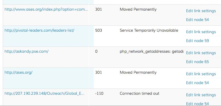 Drupal broken links step 2