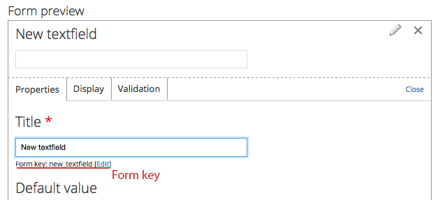Drupal webforms, form preview