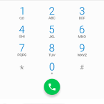 Call screen on mobile device