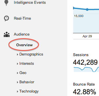 Google Analytics Site Statistics Step 3