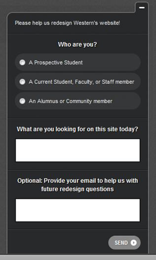 Qualaroo Pop-up Survey