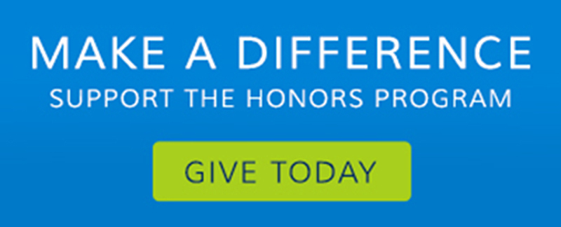 "Image reading ""Make a difference. Support the Honors Program. Give today."""
