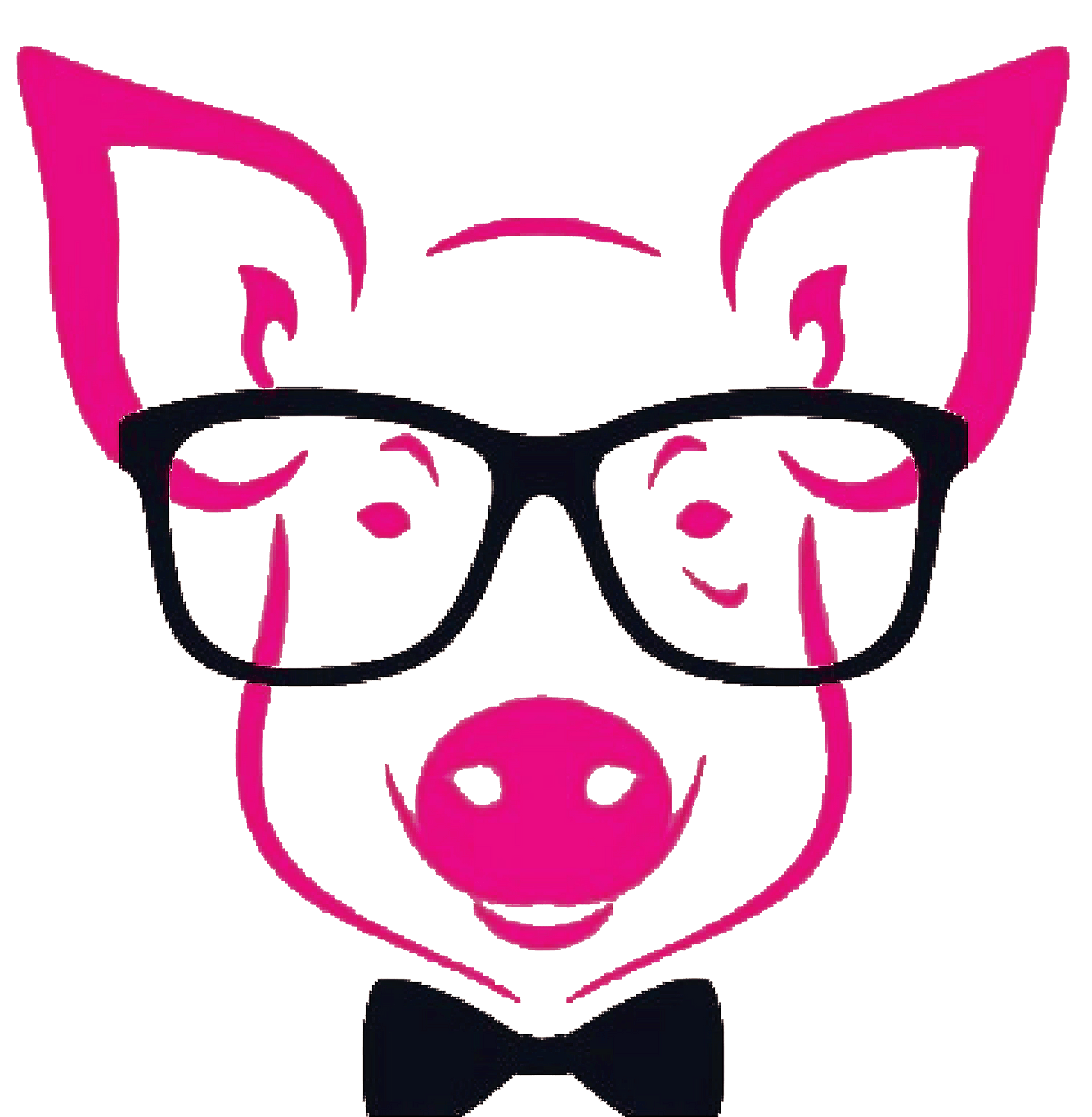 Pig in bow tie
