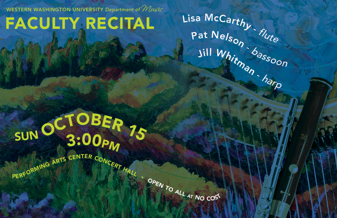 Oct 15th, 2017 – Faculty Recital with Lisa McCarthy, Pat Nelson and Jill Whitman