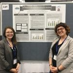 Rowan Salton (THRIVE Lab RA, right) and Sam Boggs presenting at SPSP (2019)