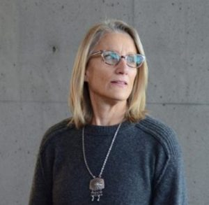 Picture of Martha Kongsgaard in front of cement wall