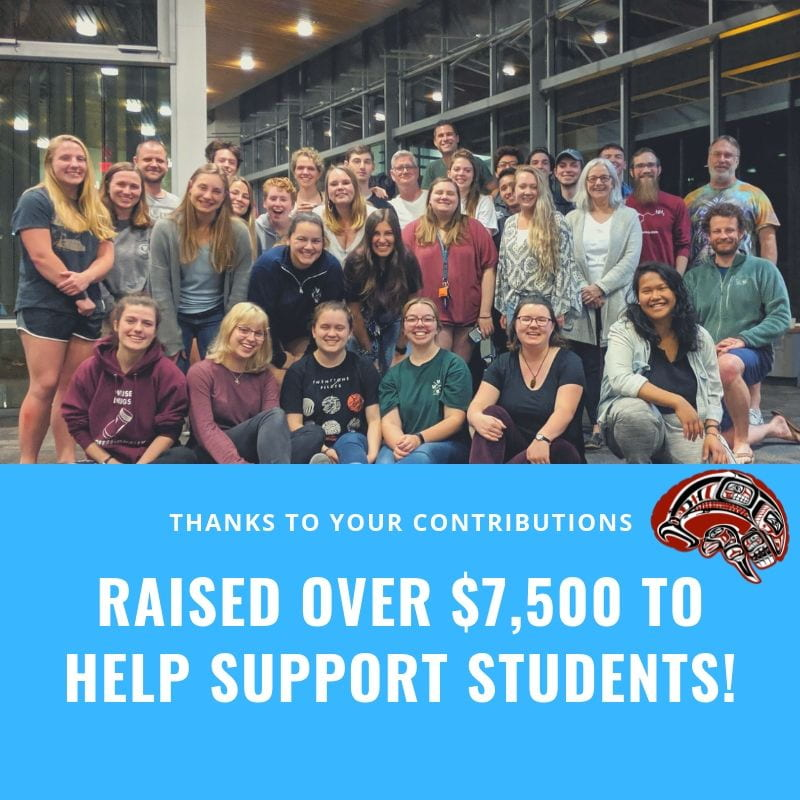 Thanks to your contributions, raised over $7,500 to help support students!