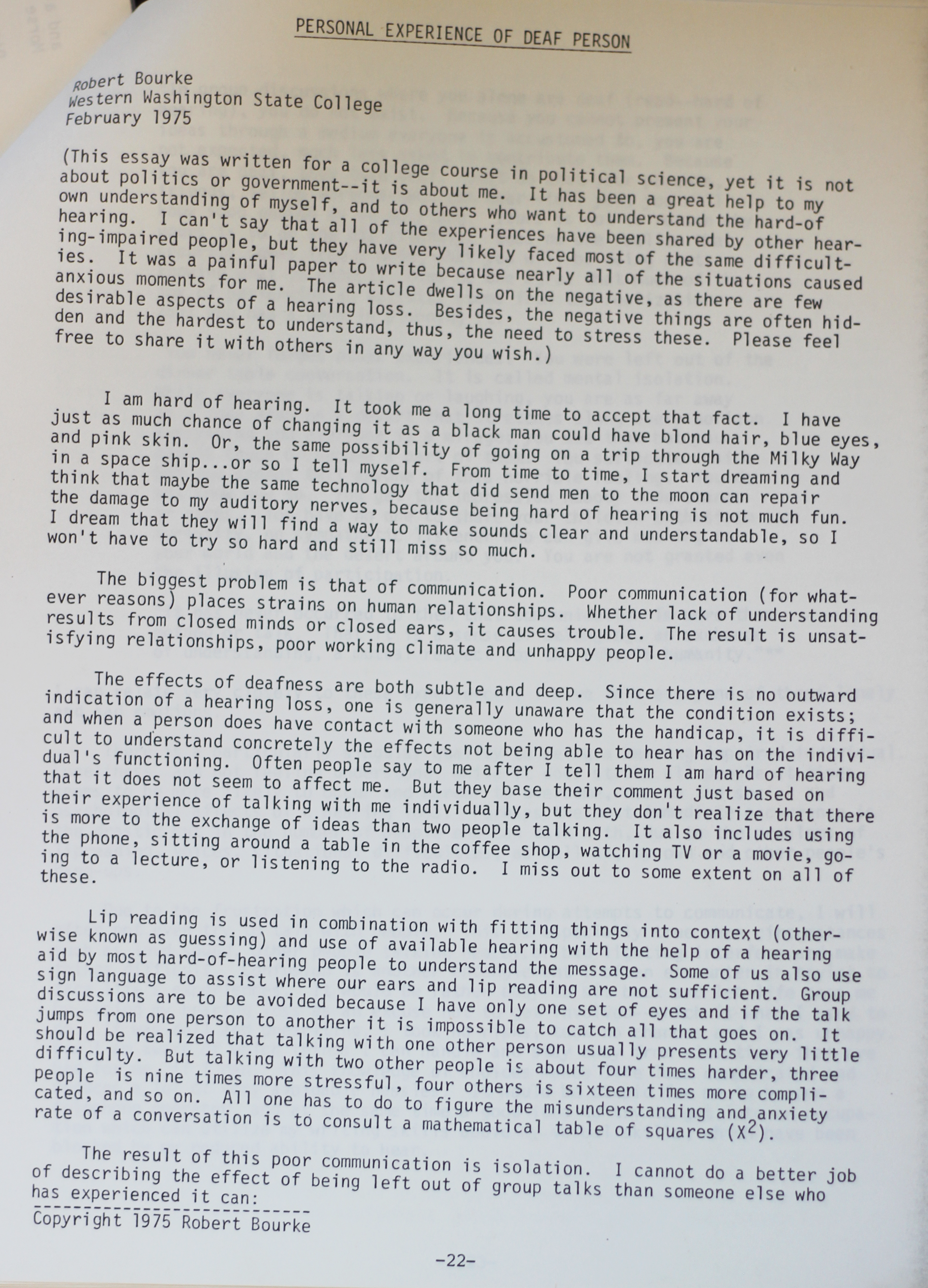 Lack Of College Disability Information >> Wwu S Archival Evidence Of Disability Activism Activism Through